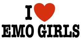 I Love Emo Girls t-shirt