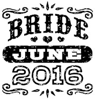 Bride June 2016 t-shirt