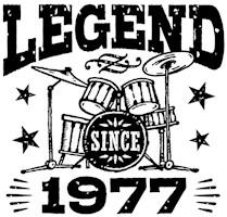 Legend Since 1977 t-shirts