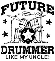 Future Drummer Like My Uncle t-shirt