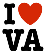 I Love VA Virginia t-shirt