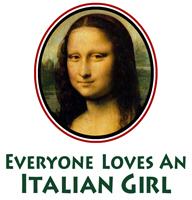 Mona Lisa Italian Girl t-shirts