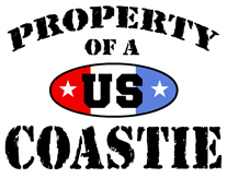Property of a US Coastie t-shirt