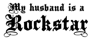 My Husband is a Rockstar t-shirt