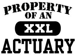 Property of an Actuary t-shirt
