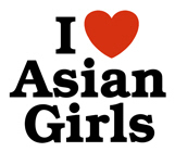 I love Asian Girls t-shirts