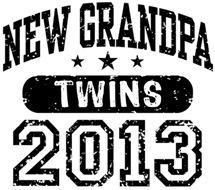 New Grandpa 2013 Twins t-shirt