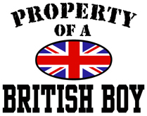Property of a British Boy t-shirts