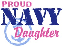 Proud Navy Daughter t-shirts