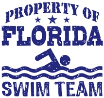 Property of Florida Swim Team t-shirts