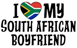 I Love My South African Boyfriend t-shirts