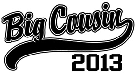 Big Cousin 2013 t-shirts