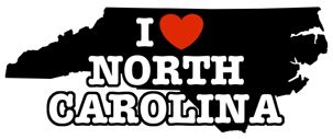 I Love North Carolina t-shirts