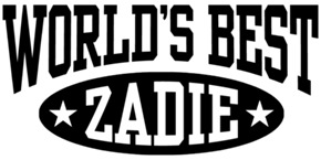 World's Best Zadie t-shirts
