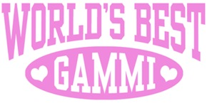 World's Best Gammi t-shirts