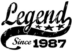 Legend Since 1987 t-shirt