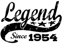 Legend Since 1954 t-shirt