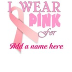 Personalizable breast cancer logo
