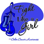 Fight Like a Girl Colon Cancer Shirts and Gifts