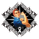 Lung Cancer Rosie Riveter Fight Like a Girl Shirts