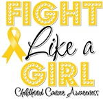 Fight Like a Girl Child Cancer Shirts