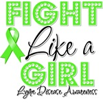 Lyme Disease Fight Like a Girl Shirts