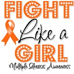 Multiple Sclerosis Fight Like a Girl Shirts