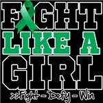 Liver Cancer Sporty Fight Like a Girl Shirts