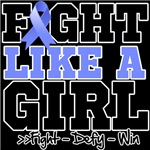 Esophageal Cancer Sporty Fight Like a Girl Shirts