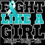 Cervical Cancer Sporty Fight Like a Girl Shirts