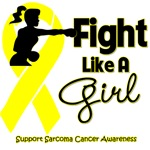 Sarcoma Cancer Fight Like A Girl Knockout Shirts