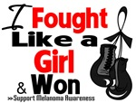 I Fought Like a Girl Melanoma Shirts