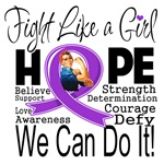 Alzheimers Disease Hope Fight Like a Girl Shirts