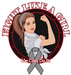 Brain Cancer Fight Like A Girl Rosie Shirts