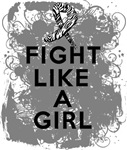 Fight Like a Girl Carcinoid Cancer Grunge Shirts