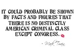 Mark Twain Congress Quote