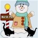 Snowman/Black kittens