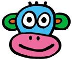 Pink Blue Monkey