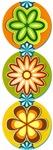 Retro Flowers (Vertical)