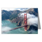 Aerial SF Landmark Greeting Cards