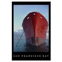 san francisco bay maritime ships bows posters