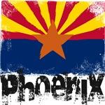 Phoenix Grunge Flag