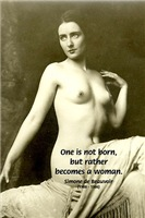 Simone de Beauvoir Woman Quote on Nude Art