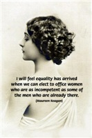 Erotic Portrait with Quote: Women in Politics