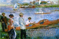 Renoir Oarsmen Painting Art & Beauty Quote