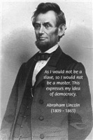 USA President Abraham Lincoln Democracy