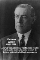 Woodrow Wilson American Ideal Liberty Man
