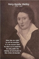 British Romantic Writer Percy Shelley on War