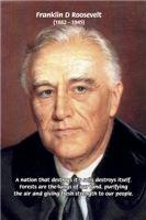 Environment Conservation: Franklin D. Roosevelt