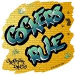 Cockers Rule! (Green Graffiti Lettering)